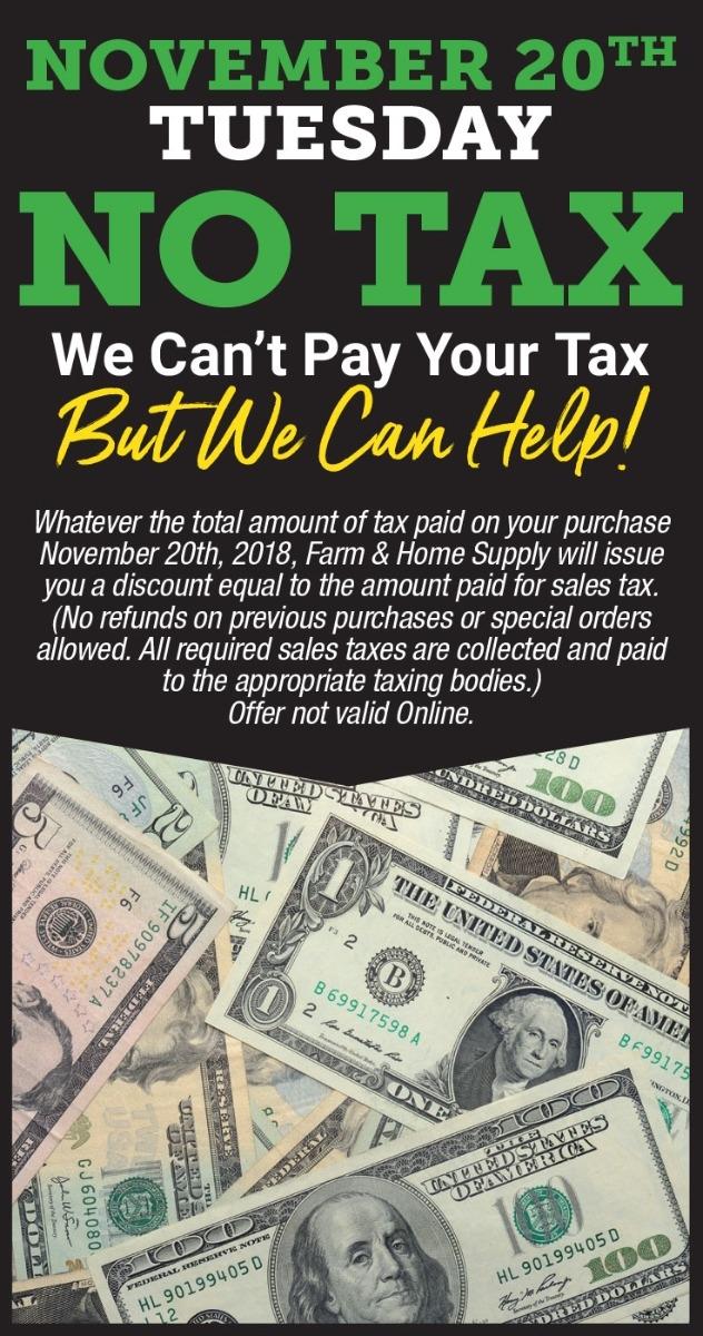 Nov 20 No Tax